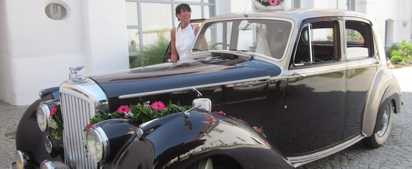 Unser Hochzeitsauto, Marke Bentley Mark VI, Baujahr 1949, nur mit Chauffeur zu vermieten!!